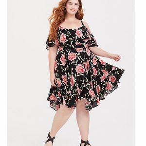 torrid | Black Floral Dress